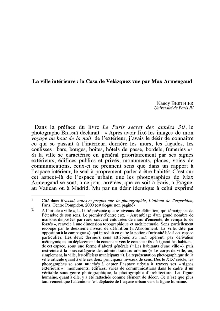 Nancy Berthier La ville intérieure 24 mai 2003 1